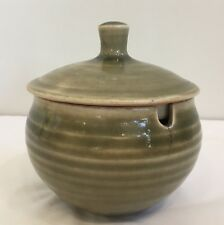 Vintage David Leach Celadon Glaze Lidded Honey Pot Personal Seal Studio Pottery