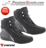 Scarpe Dainese Motorshoe wp nero antracite black moto shoes waterproof