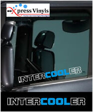Intercooler window decals x 2. truck graphics daf scania volvo ANY COLOUR!!!!