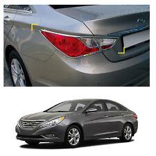 Rear Chrome Tail Light Lamp Trim Cover Molding For Hyundai Sonata 2011-2014
