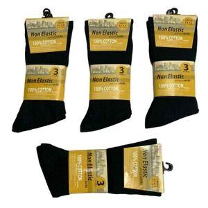 Mens Diabetic Socks Non Elastic Cotton Rich Patterns 3 6 12 Pairs Size UK 6 - 11