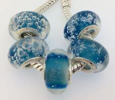 35PCS Silver Murano Lampwork Glass Beads fit European Charm Bracelet IL143