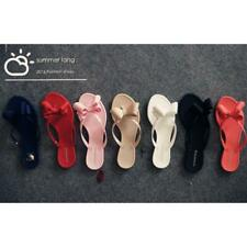 Women Bow Knot Summer Flip Flops Ladies Flat Sandals Summer Beach Slippers Shoes