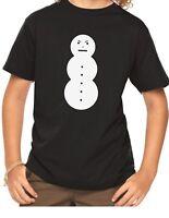 Youth Toddler Angry Snowman Shirt Christmas Present Gift X-mas T-Shirt Boy Girl