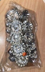 Vintage WESTERN GERMANY Christmas Candle Clip Holder Pine Cone REFLECTORS 10