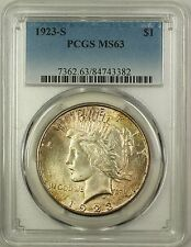 1923-S Silver Peace Dollar $1 Coin PCGS MS-63 Toned (Better Coin) (16)