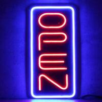"Bright 23.6""X11.8"" Vertical Bright Rectangular LED Light OPEN Neon Business Sign"