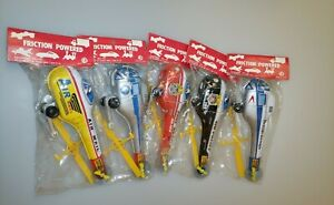 Instant Collection- Lot of 5 Vintage Japan Tin Litho Helicopter Friction Toy