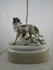 Vintage Russian Borzoi Porcelain Bavaria Dog Figurine Lamp Paul Hanson 5203/D