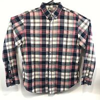 Reed Edward Men's Plaid Long Sleeve Button Down Dress Shirt Size Large