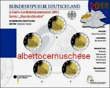 5 x 2 euro 2011 fdc Germania ADFGJ Colonia Koln Deutschland Germany Allemagne
