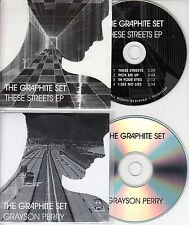 THE GRAPHITE SET Set of 2 UK promo CDs Grayson Perry These Streets Smoke Fairies