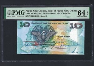 Papua New Guinea 10 Kina ND(1988) P9a Uncirculated Graded 64