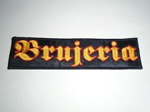 BRUJERIA EMBROIDERED LOGO DEATH METAL PATCH