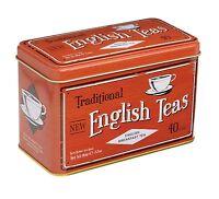 New English Tés Breakfast Té 40 bolsitas de té en Vintage Lata Regalo -ROJO