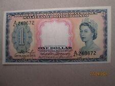 More details for 1953 malaya & british borneo bank note one dollar queen elizabeth great conditio