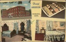 Wabasha MN Hotel Anderson Multi-View Linen Postcard