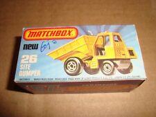 MATCHBOX 75 SUPERFAST NEW 26 SITE DUMPER MATCHBOX 1976