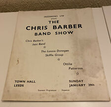 The Chris Barber Band Show -Town Hall, Leeds -Programme -Lonnie Donnegan-1950's?