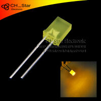 100pcs 2x5x7mm Square LED Diodes Diffused Yellow-Yellow Rectangle Rectangular