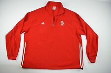 Rare ADIDAS x Target Mens 2XL XXL Long Sleeve Half Zip Fleece Sweater Red White