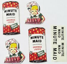 Replacement water slide decal set for Tonka Minute Maid Orange Juice truck