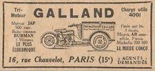 Y7471 Tri-Moteur GALLAND 500 cmc. - Pubblicità d'epoca - 1930 Old advertising