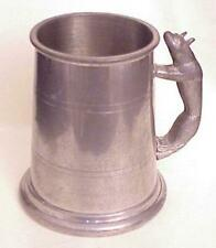 Vintage Pewter Wolf Handle Sheffield Beer Tankard Mug Stein