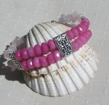 Handmade Rose Quartz Tibetan Silver Fine Jewellery