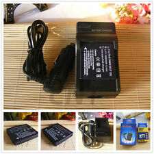 2X DMW-BCF10E  Battery+Charger for Panasonic Lumix DMC FT1 FT2 FT3 FX65 FX75