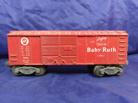 LIONEL CURTISS BABY RUTH X6014  RED BOX CAR -  O GAUGE MODEL TRAIN . VINTAGE