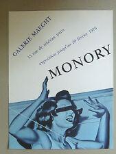 MONORY Jacques Affiche originale  Opéras glacés 76 Vintage Pin Up femme fifties