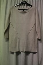 Ladies Beige Jumper Top   Size 14  (RJ614)