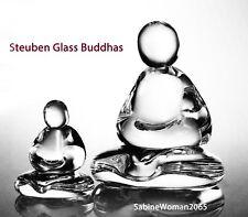 16LB NEW in BOX STEUBEN glass BUDDHA meditation Asian lotus Kwan Yen Reiki Yoga!