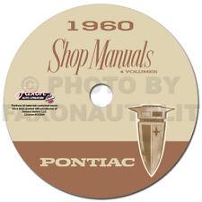 1960 Pontiac CD Shop Manual with Body Service Hydra-Matic and AC Repair Manuals