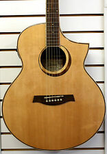 IBANEZ® AEW21VK ACOUSTIC ELECTRIC GUITAR Spruce Top Ovangkol Sides/Back Natural