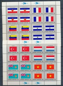 UNITED NATIONS MNH Stamps 24 Minisheets Flags CV$550 A2079