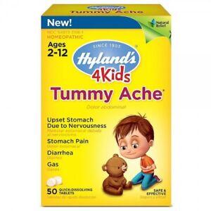 4Kids, Tummy Ache, 50 Tablets - Hyland's UK Stock!