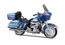 HARLEY-DAVIDSON 1980 FLT TOUR GLIDE BLU 1:18 Modellino Moto Die-Cast Modello