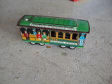 Vintage 1960s Tin Friction Municipal Railway Trolley Car JAPAN Made