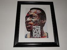 "Large Framed Miles Davis 1971 European Tour Poster, Jazz Print 24"" by 20"""
