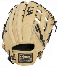 "Under Armour Baseball Flawless 12.75"" Outfield Glove Mitt H-Web (Cream LHT)"