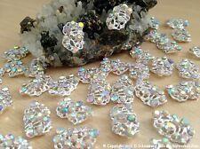 NEU Nail Art Nagel Design Silber & Strasssteine Diamant Optik 1 St Charm Overlay
