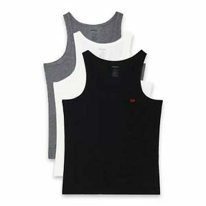 DIESEL 3-Pack Cotton Stretch Tank Top, Black / White / Grey