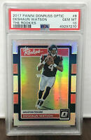 DESHAUN WATSON 2017 DONRUSS OPTIC THE ROOKIES SILVER PRIZM RC PSA 10 GEM