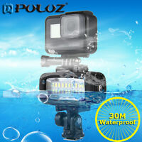 PULUZ 20 LEDs 30m Waterproof IPx8 Studio Flash Light Video Kit for GoPro