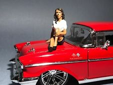 Diecast Lady Mechanic Lucy Figure for 1 24 Scale Models by American Diorama