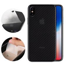 2x 3D Carbon Schutzfolie für iPhone X Rückseite Schutz Folie Sticker Transparent