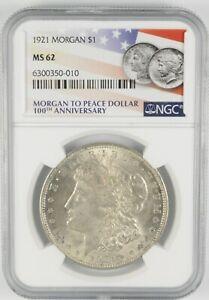 MS62 GRADED - 1921 Morgan Silver Dollar- NGC *535