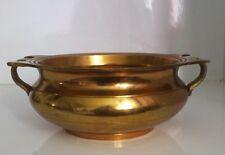 Urli Brass Pot Tribal Art India Antique Look Utensil Container